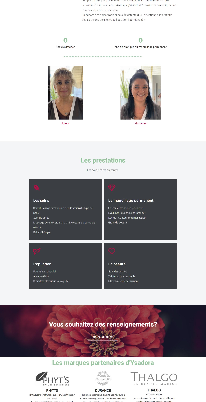 Ysadora Site web